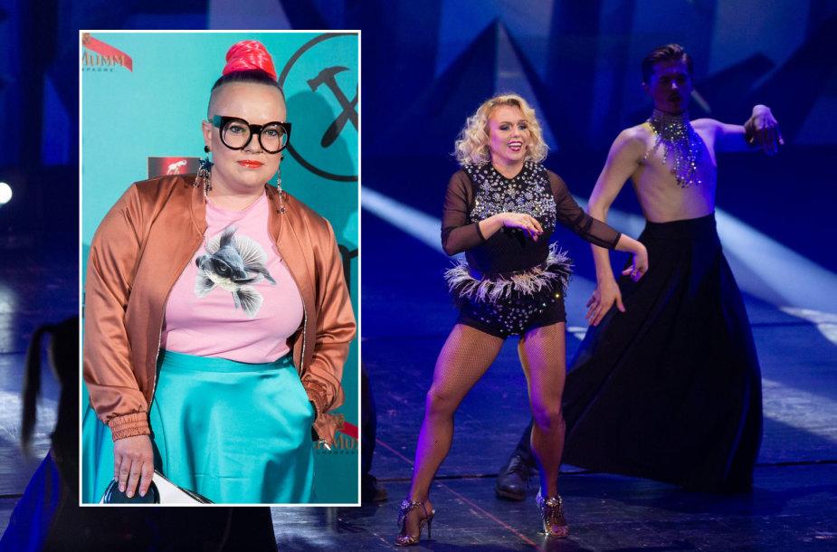 """Violetos Tarasovienės pasirodymas per """"Žmonės 2019"""" apdovanojimus ir stilistė Milda Metlovaitė"""
