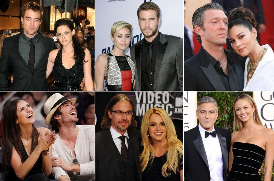 2013-aisiais išsiskyrusios užsienio žvaigždžių poros