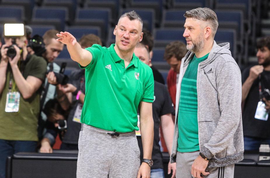 Šarūnas Jasikevičius ir Darius Maskoliūnas