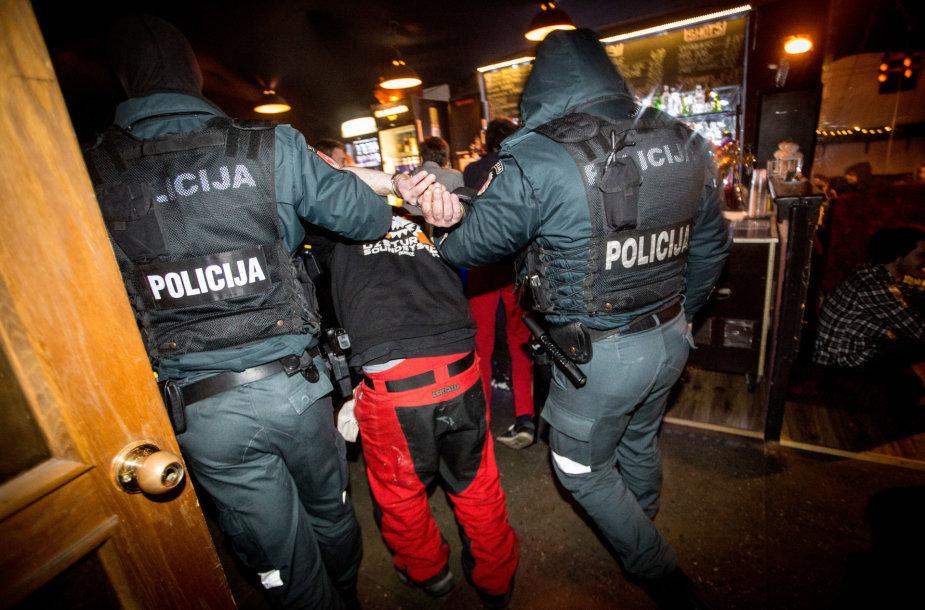 Policijos reidas Vilniaus naktiniame klube