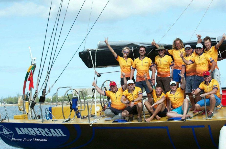 """Jachta """"Ambersail"""" startavo Karibų regatoje  2015 m. sausio 21 d."""
