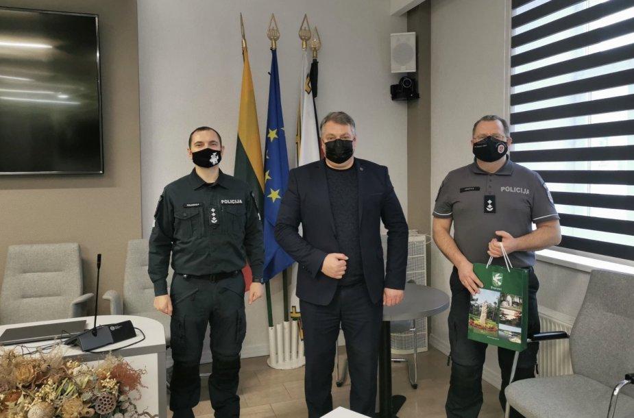 Marius Jakštas su kolegomis