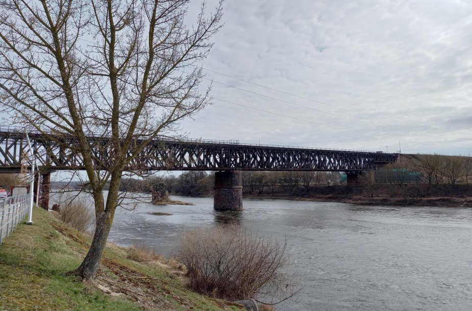 Senasis Jonavos geležinkelio tiltas. KPD nuotrauka