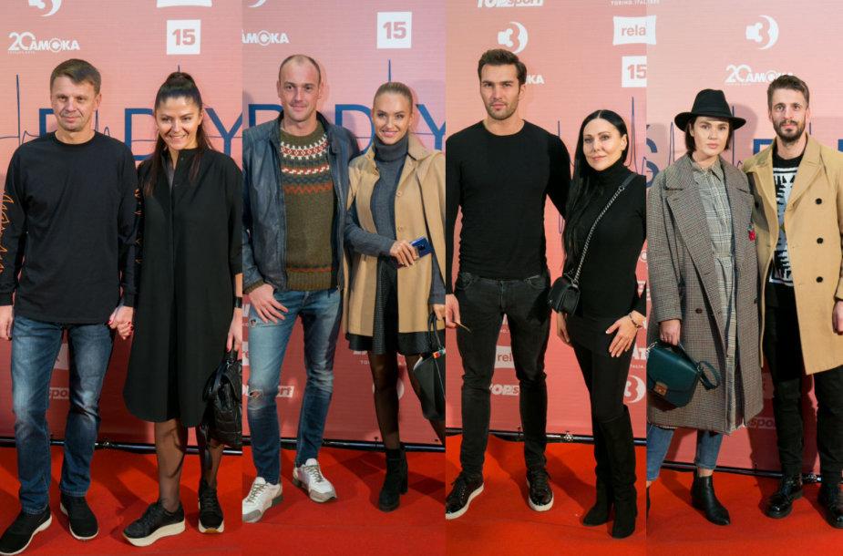 Rolandas Kazlas su žmona Sigita, Dmitrijus Jaruševičius ir Gintarė Gurevičiūtė, Žilvinas Tratas ir Anželika Cholina, Justina ir Justas Jaručiai