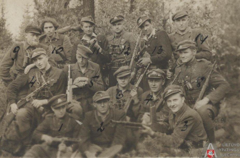 Žemaičių apygardos Kardo rinktinės partizanai