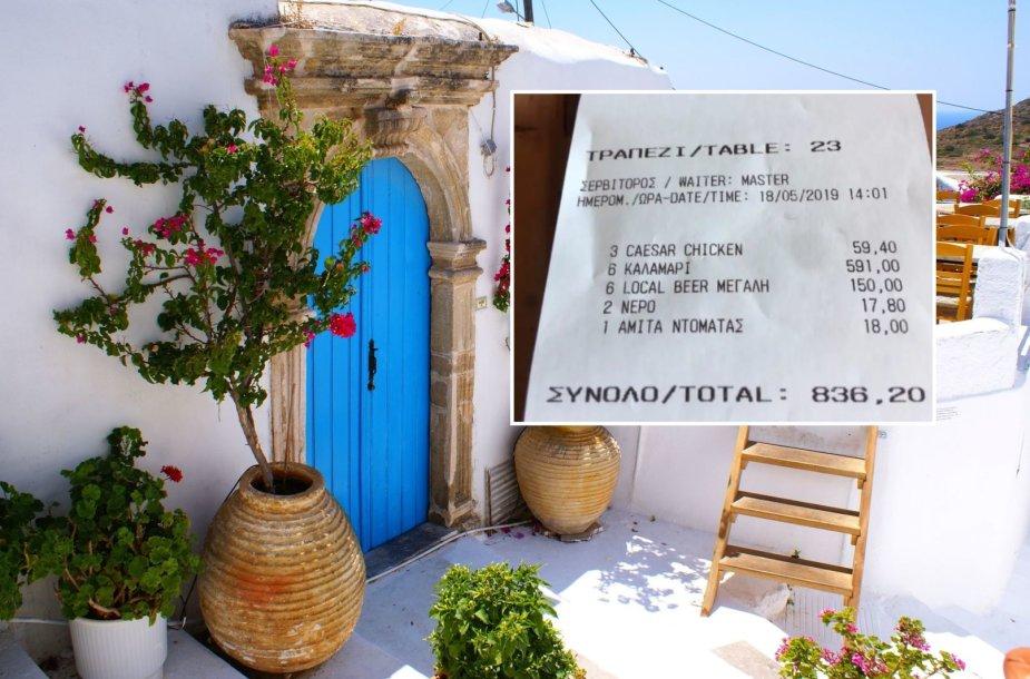 Iš neapdairių turistų pelnosi ir graikai: už kalmarus ir alų – 800 Eur sąskaita