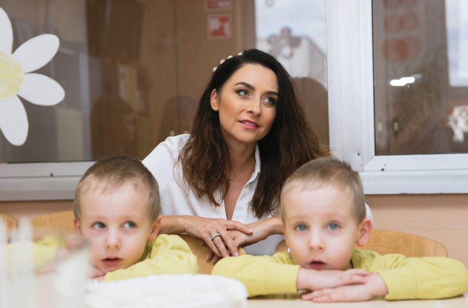 Irma Jurgelevičiūtė su vaikais