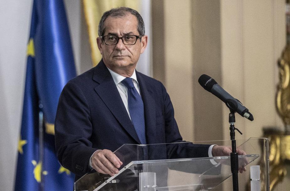 Italijos ekonomikos ir finansų ministras Giovanni Tria