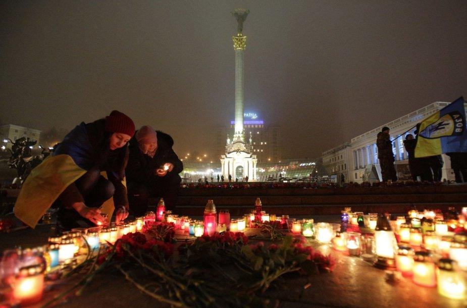 Ukrainiečiai gedi žuvusių aukų