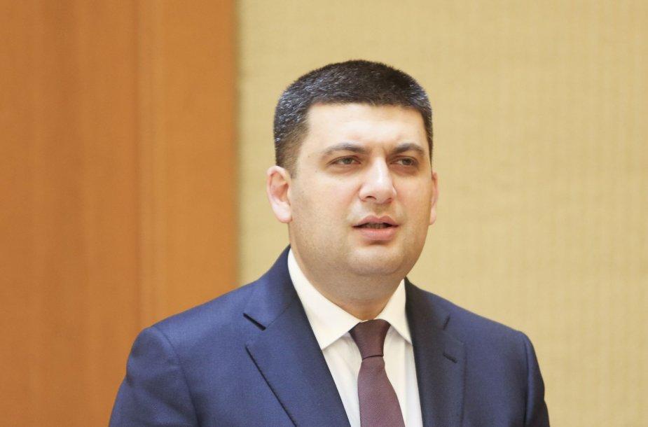 Ukrainos Aukščiausiosios Rados pirmininkas Volodymyras Groismanas