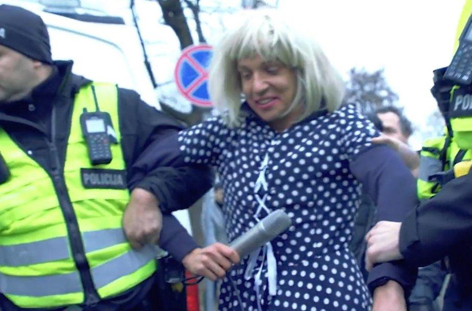 Olegas Šurajevas buvo sulaikytas per mitingą