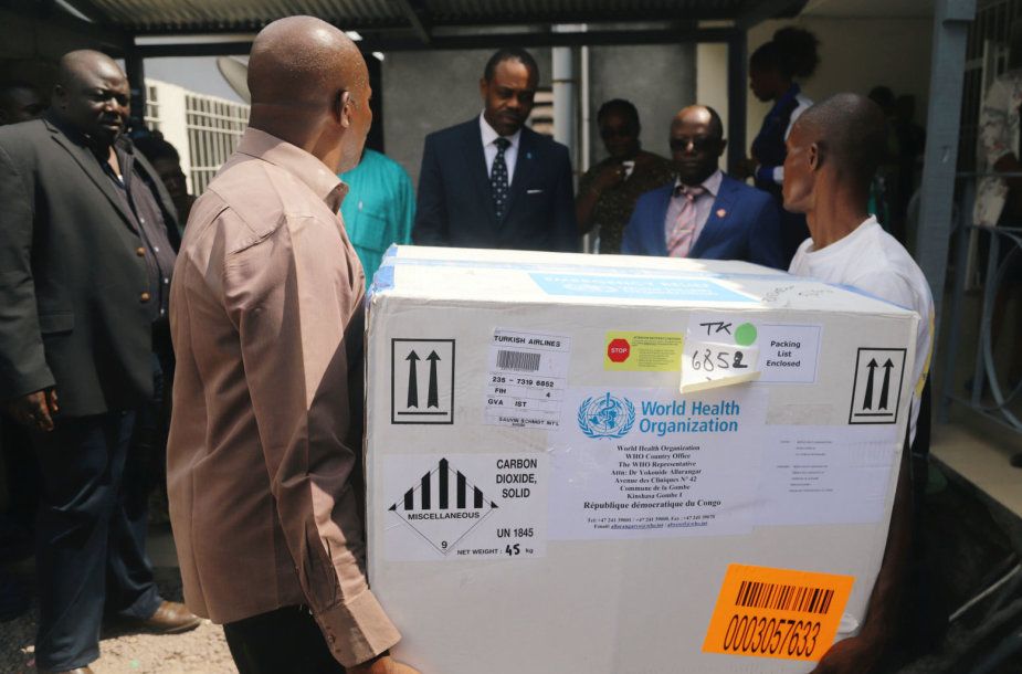 Į Kongo DR atgabenta vakcinos nuo Ebolos viruso