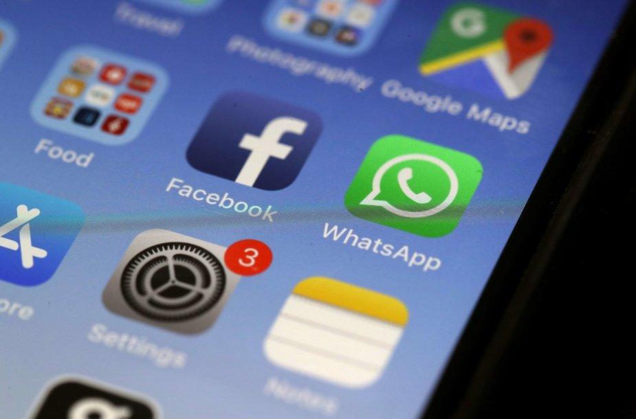 """""""Facebook"""" programėlė """"iPhone"""" telefone"""