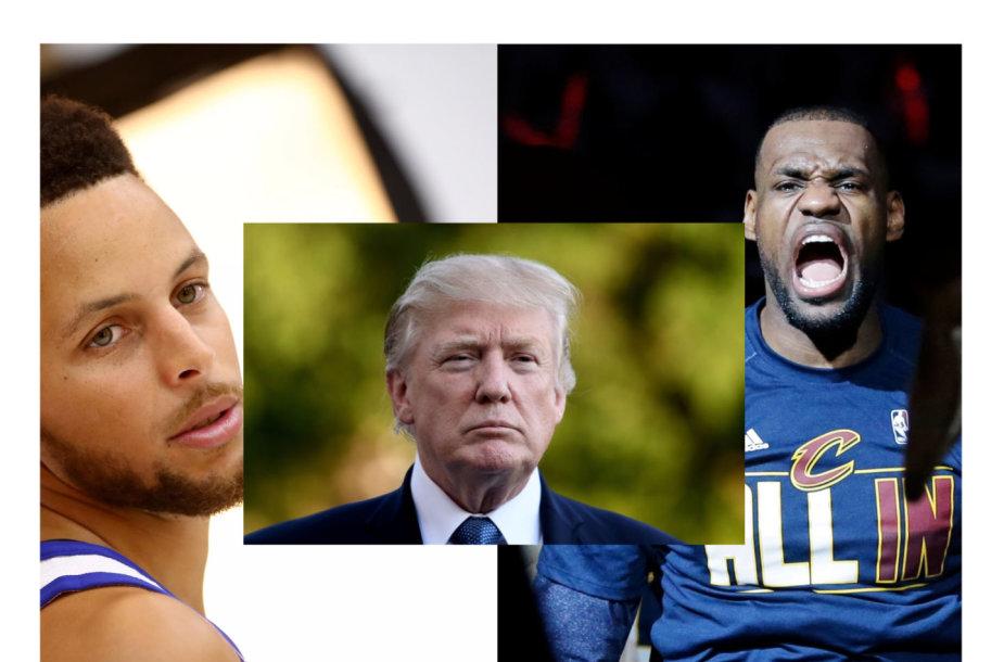 Stephenas Curry, Donaldas Trumpas ir LeBronas Jamesas