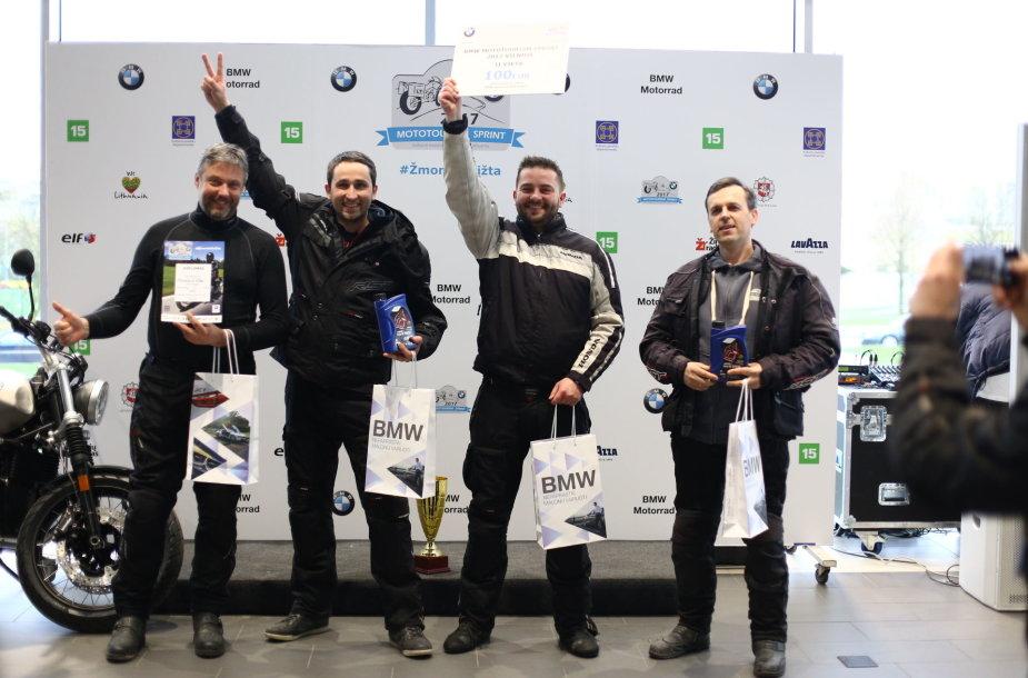 """""""Mototurizmo sprinto"""" nugalėtojų apdovanojimas"""
