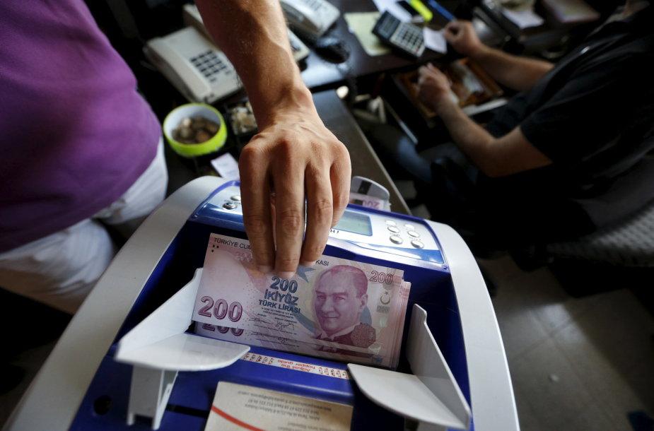 200 Turkijos lirų banknotas