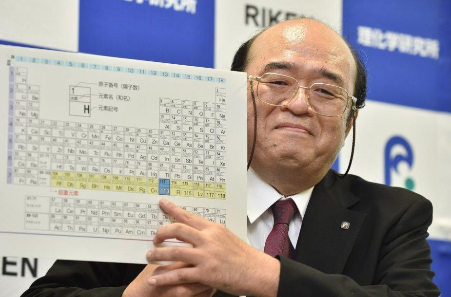 Periodinė cheminių elementų lentelė su 4 naujais elementais