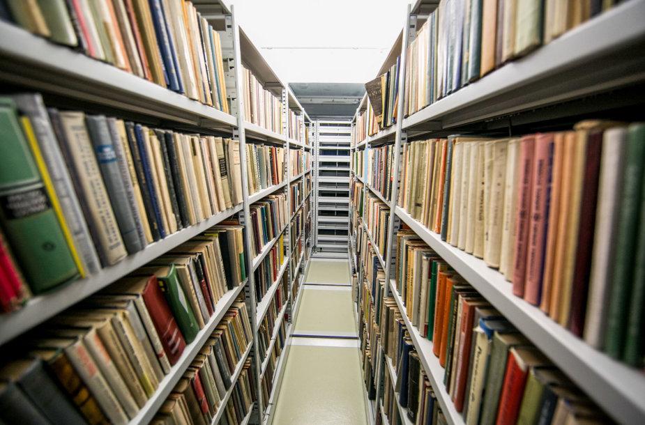 Nacionalinės bibliotekos saugykloje – ir kelis dešimtmečius skaitytojams nebereikalingos knygos