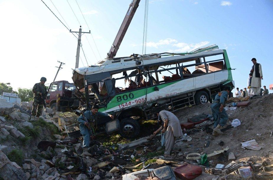 Autobusas po sprogimo