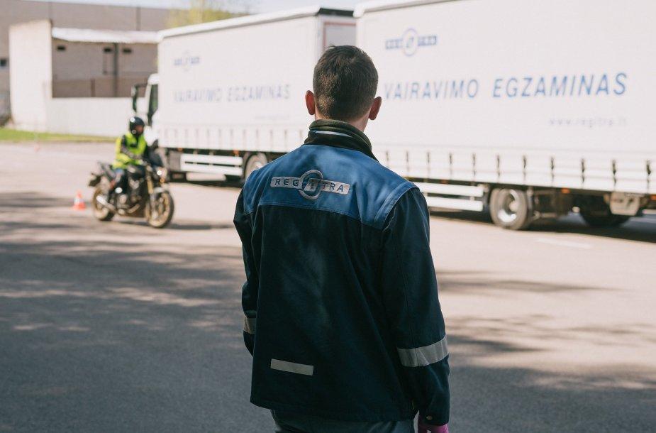"""Regitros"" egzaminas motociklininkams"