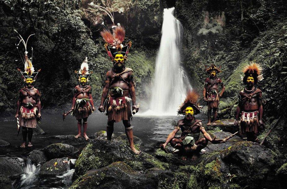 Huli genties atstovai