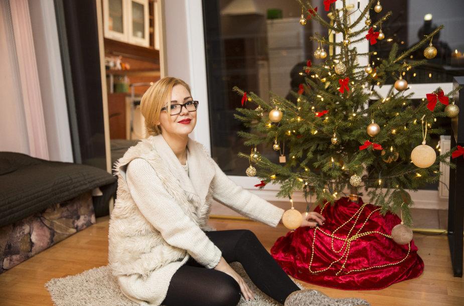 Monika Linkytė papuošė namus Kalėdoms