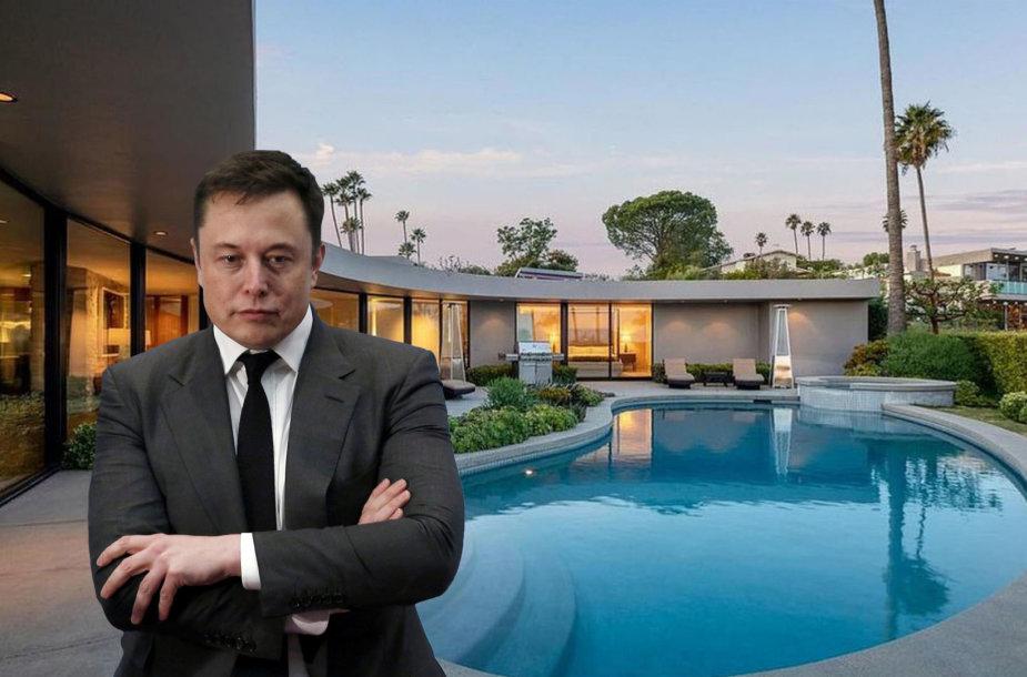 Elonas Muskas parduoda vilą Los Andžele