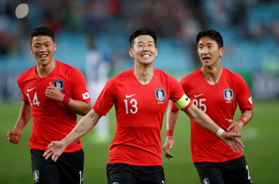 Pietų Korėjos futbolo rinktinės lyderis Son heung-Minas.