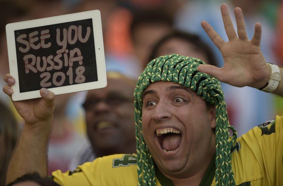 2018 metų pasaulio futbolo čempionatas turėtų vykti Rusijoje