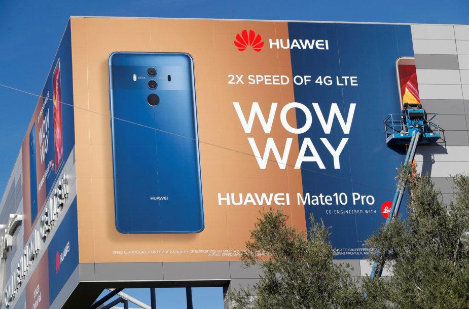 """""""Huawei"""" skyrė daug dėmesio ir lėšų CES parodai Las Vegase, tačiau viskas bergždžiai"""