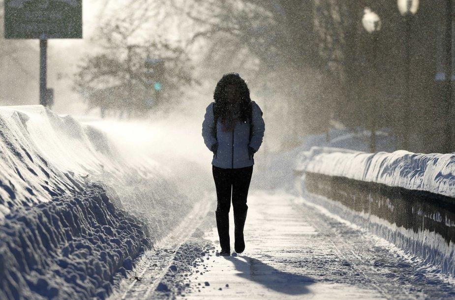 Naujoji Anglija paskendo milžiniškose sniego pusnyse
