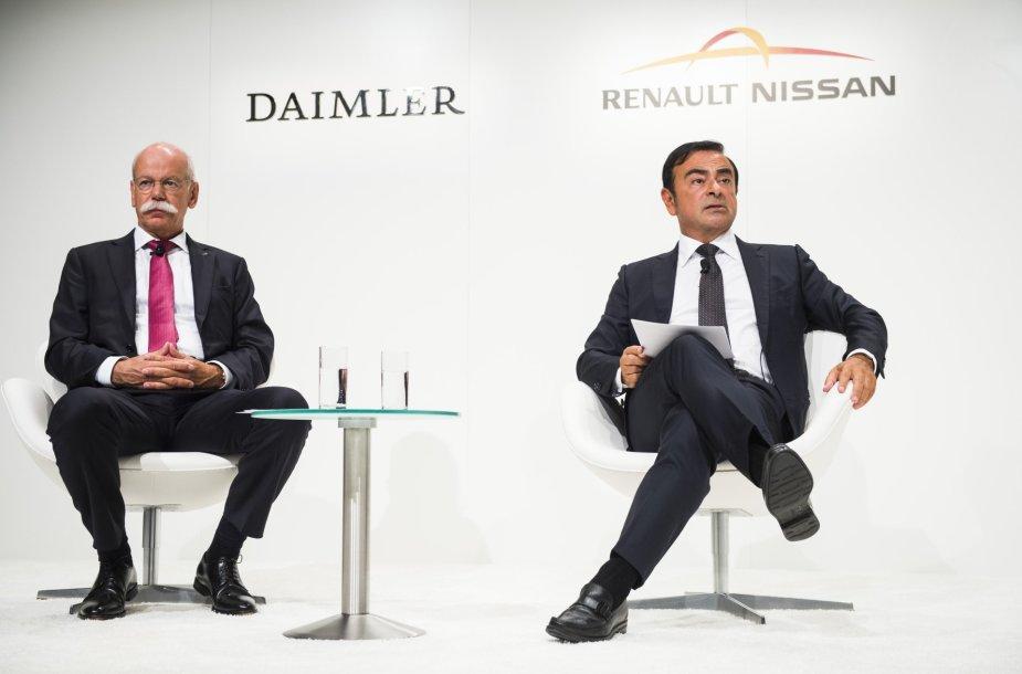 Carlosas Ghosnas ir Dieteris Zetsche