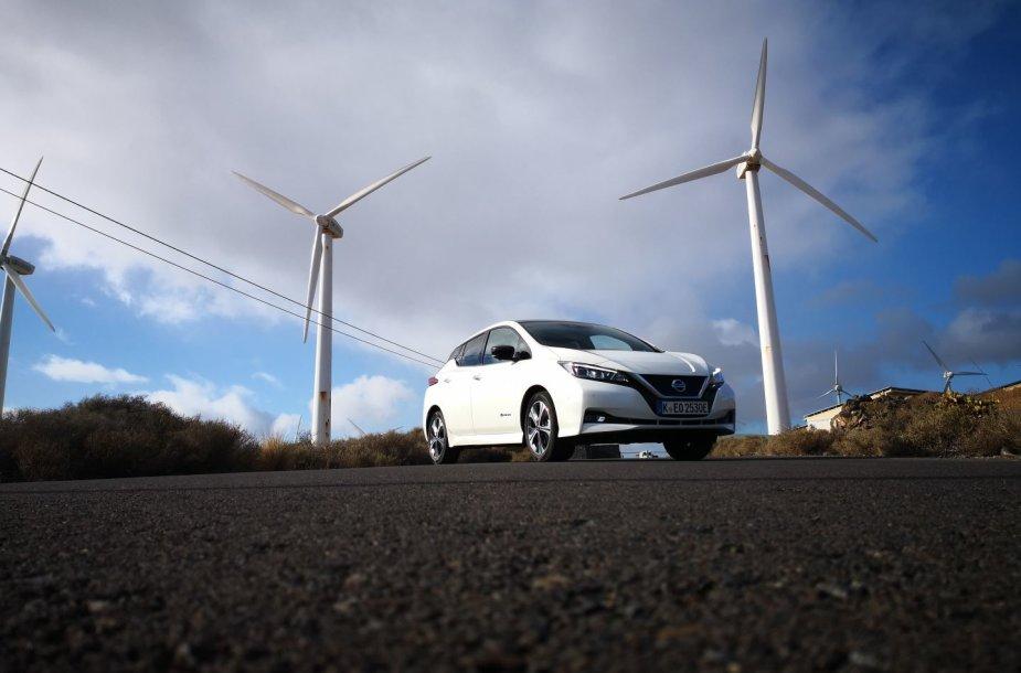 "Elektromobilio ""Nissan Leaf"" bandymai Tenerifėje"