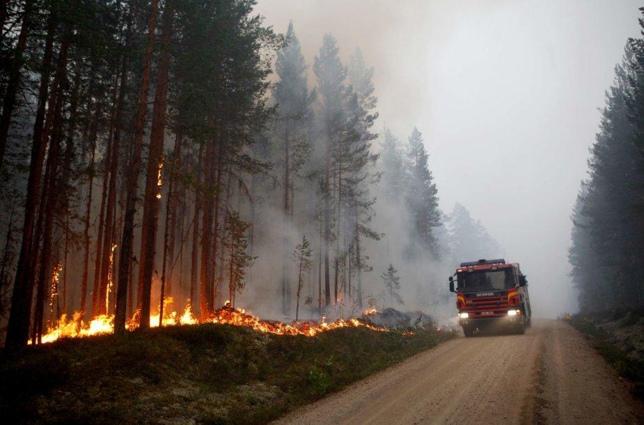 Miškų gaisrai Švedijoje
