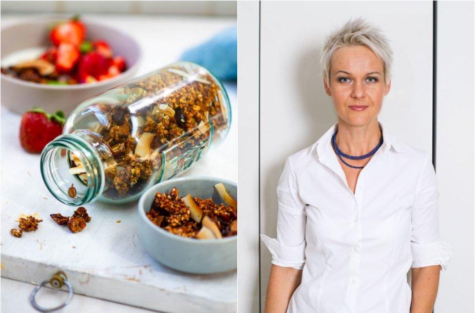 Nida Degutienė ir jos gaminta grikių granola
