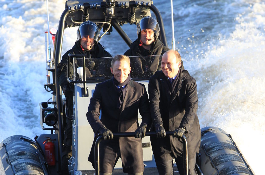 """Danielis Craigas ir Rory Kinnearas juostos """"Spectre"""" filmavime"""