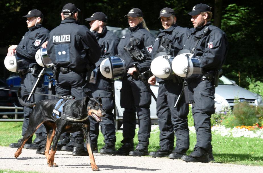 Vokietijos policija Hamburge