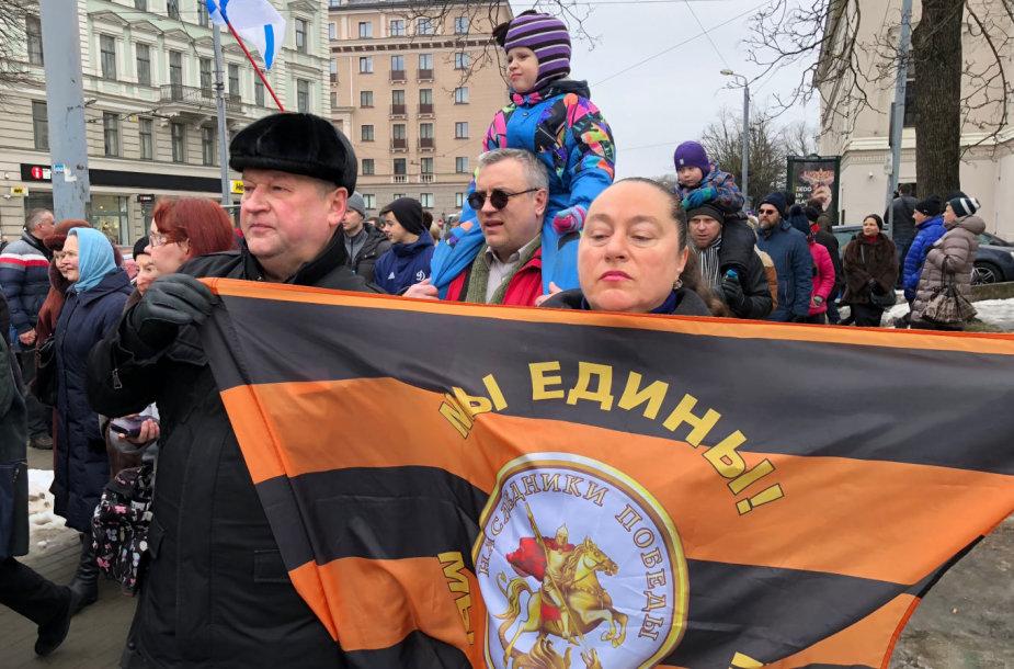 Latvijos rusai  protestuoja prieš kalbos reformą tautinių mažumų mokyklose
