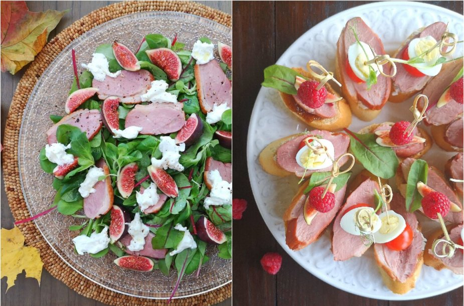 Sumuštiniai ir salotos su antiena