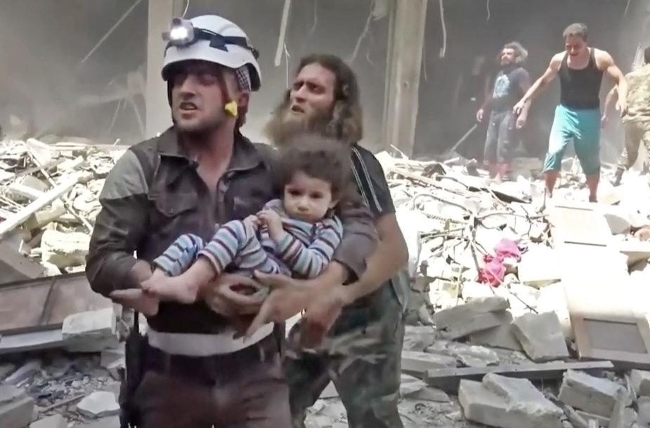 Alepas po bombardavimų