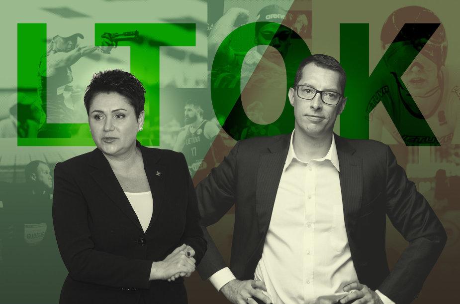 Daina Gudzinevičiūtė ir Emilis Vaitkaitis pretenduoja į Lietuvos tautinio olimpinio komiteto prezidento postą 2020-2024 metų kadencijai.