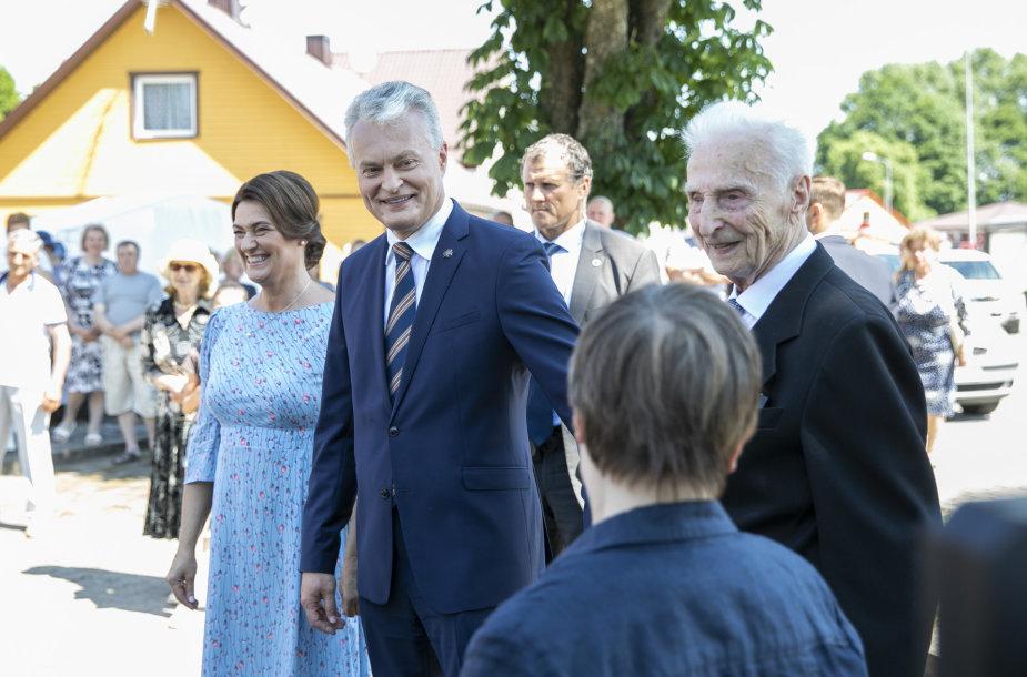 Gitanas Nausėda, Diana Nausėdienė, Antanas Nausėda
