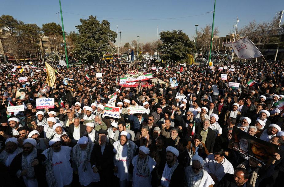 Vyriausybę palaikanti demonstracija Irane