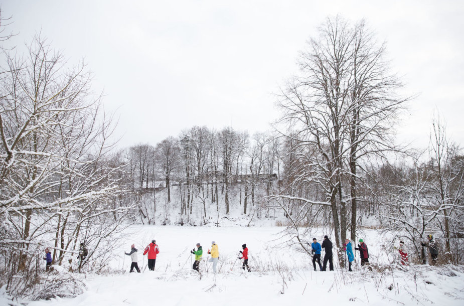 Sniego dienos Snaigės žygis slidininkams