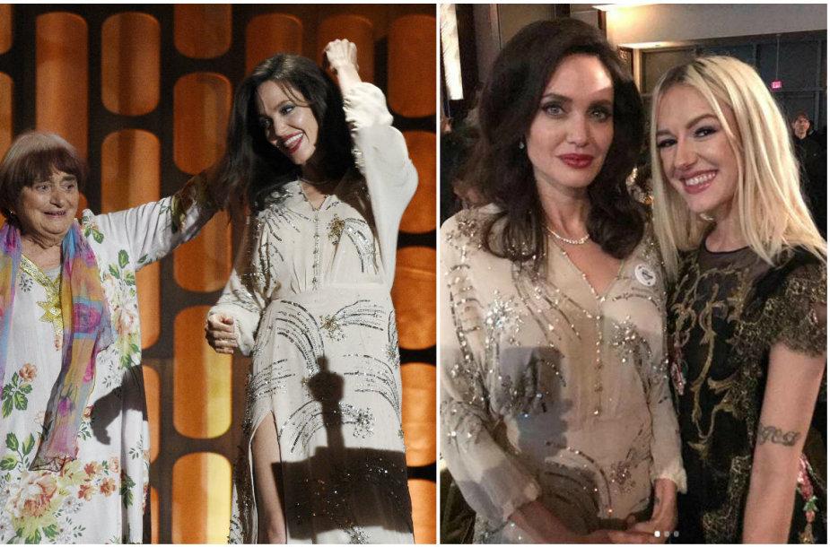 Agnes Varda šoka su Angelina Jolie ir su ja nusifotografavusi lietuvė Bria Vinaitė