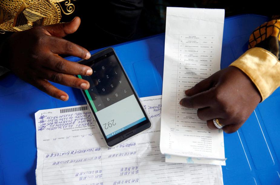 Balsų skaičiavimas Kongo Demokratinėje Respublikoje
