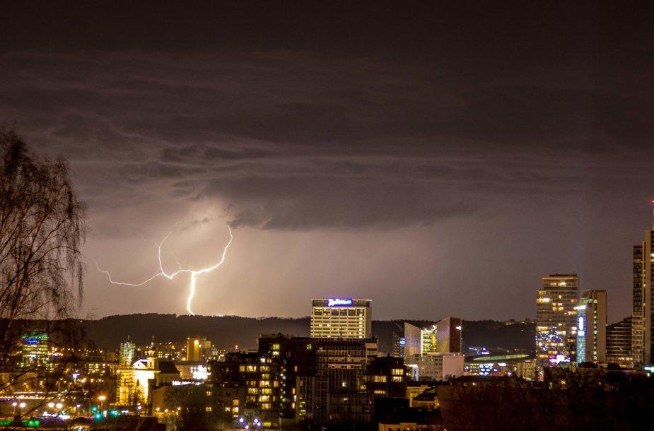 Žaibas Vilniuje