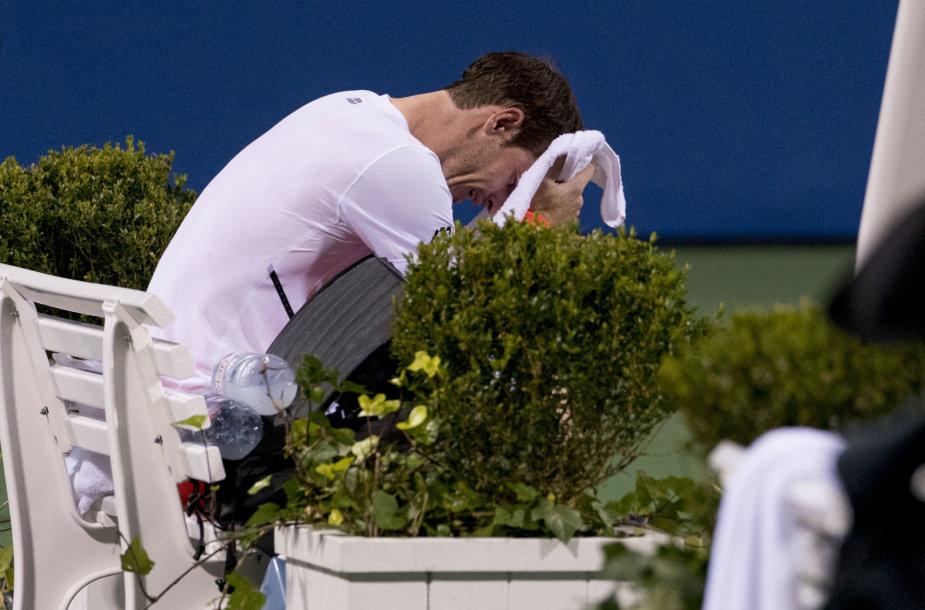 Andy Murray po pergalės Vašingtone nesulaikė ašarų