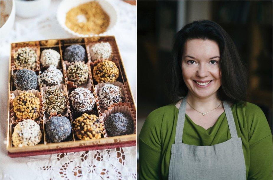 Renata Ničajienė ir jos gaminti džiovintų vaisių saldukai