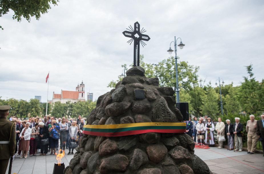 Okupacijos, genocido ir sovietmečio represijų aukų pagerbimo ceremonija